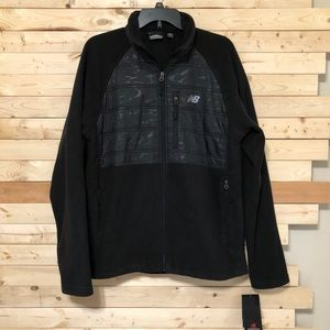 NWT New Balance Black / Gray fleece Men's Jacket